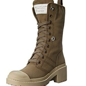 Marc Jacobs Fold Down Distressed Platform Boots